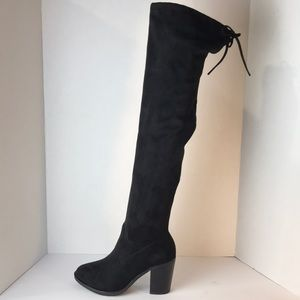Sexy Pull Up Almond Toe Over The Knee Boots
